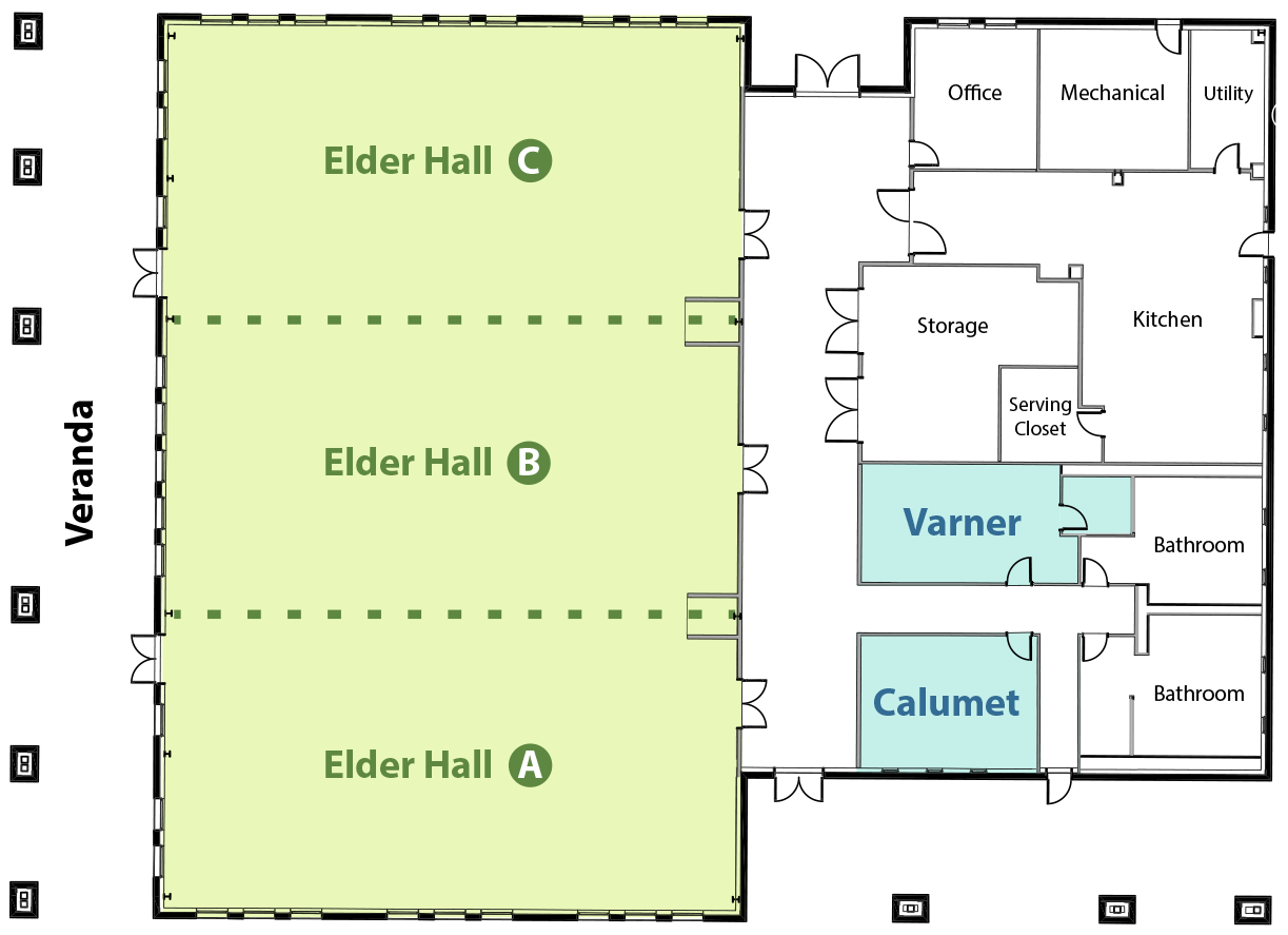 Idlewilde Event Center Floor Plan